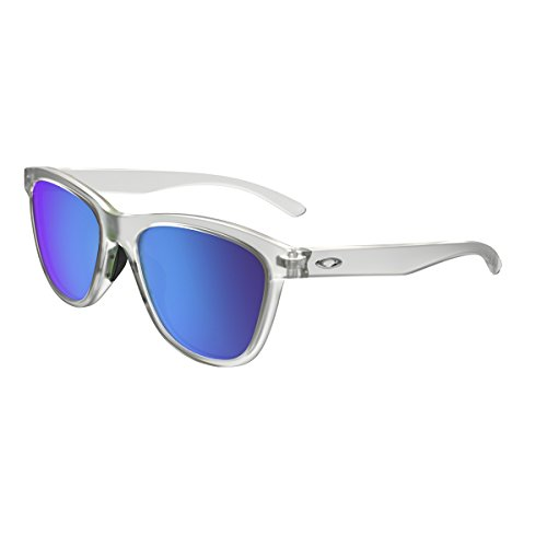 Oakley Women's Moonlighter Non-Polarized Iridium Round Sunglasses, Frost, 53 - Womens Sunglasses Oakley