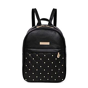 Image Unavailable. Image not available for. Color  Women Leather Backpack  Teenage Backpacks for Girls Vintage Feminine sac ... 7d81ea4125c89