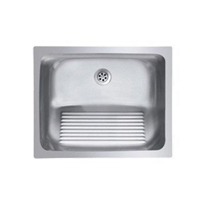 Ukinox D610.457 Modern Dual Mount Single Bowl Stainless Steel Laundry Sink by Ukinox
