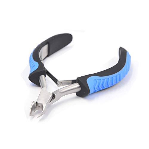 Cuticle Nipper, IVON 1/2 Jaw Professional Cuticle Trimmer Stainless Steel Cutter with Non-Slip Handle.