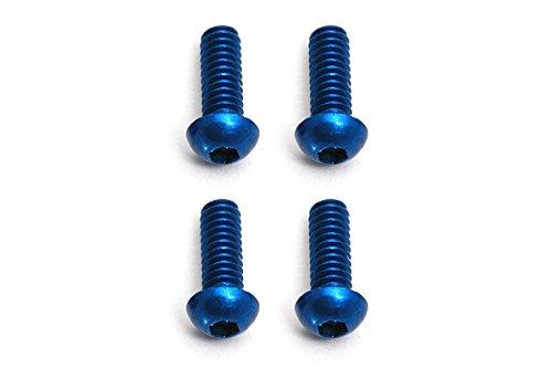 Associated 8546 BHCS M2x6 Screws Blue Aluminum (4)