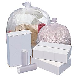 Highmark(TM High-Density Can Liners, 6 Mic, 12-16 Gallons, 24in. x 33in, Natural, Box Of 1,000