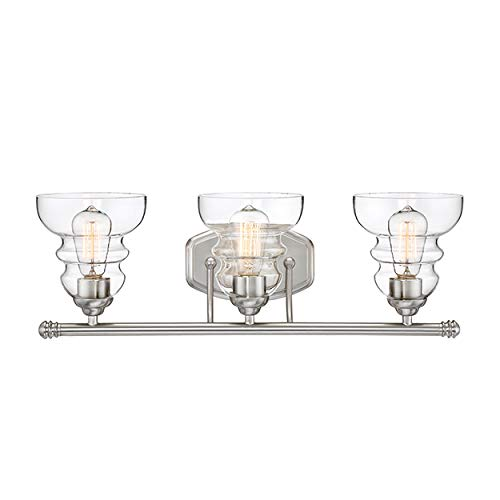 Millennium Lighting Millennium:Three 7333-SN 3-Light Bath Vanity in Satin Nickel