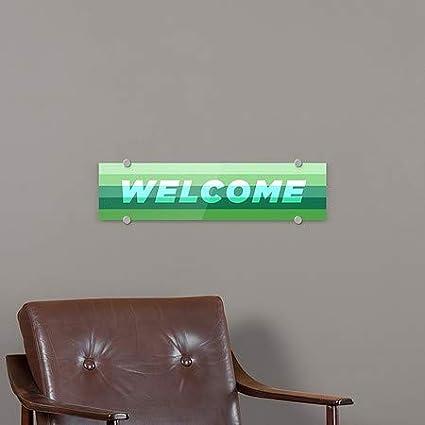Modern Gradient Premium Brushed Aluminum Sign CGSignLab 5-Pack 24x6 Welcome