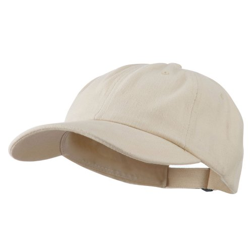(MG Heavy Brushed Cotton Twill Cap - Natural OSFM)