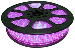 CBconcept 120VLR-65FT-P Pink 65-Feet 120-volt 2-Wire 1/2-Inch LED Rope Light, Christmas Lighting, Indoor/Outdoor Rope Lighting