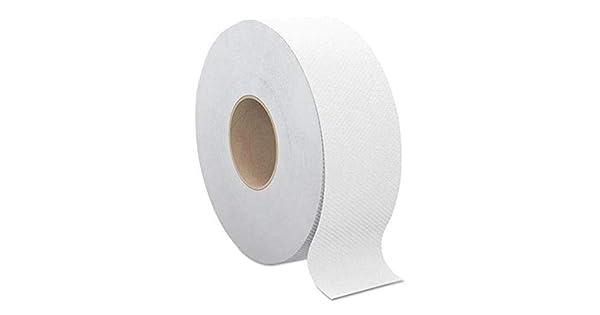 4 En Relieve 2ply Super Absorbente Blanco sola Jumbo Rollos De Papel De Centro Feed 1//2//3