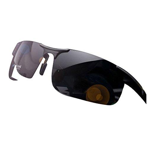 Black Aluminium Aviator Polarized Sunglasses for Men Outdoor Driving Sun - Aluminium Clubmaster