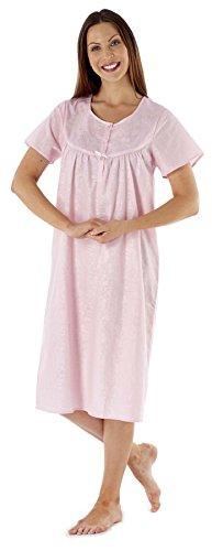 Botón Señora Selina señoras Fiona manga corta del camisón Sirsaca LN454 Pink