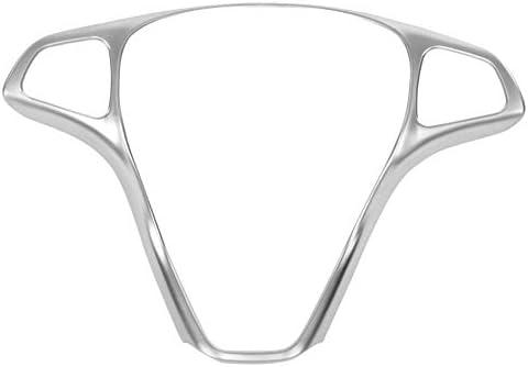 Tiamu Car Steering Wheel Button Frame Trim Cover for Mercedes Vito 2017 Silver Chrome