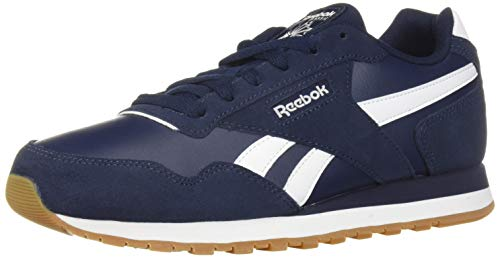Reebok Men's Classic Harman Run Sneaker, Collegiate Navy/White/Gum/Suede, 11 M US