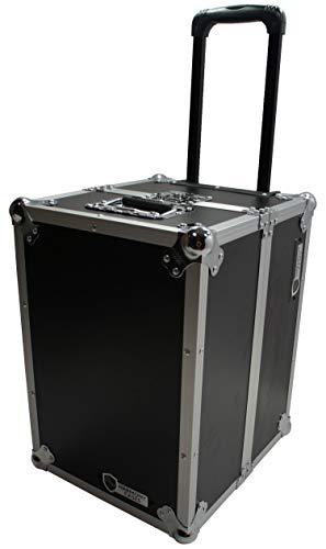 Photo Harmony Case HCLPHWE Rolling Flight Case Wheels & Handle 100 LP Vinyl Records