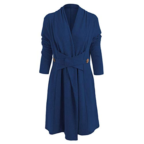 Women Pure Cashmere Long Coat Cardigan Open Front Button Full Length Overcoat Topcoat
