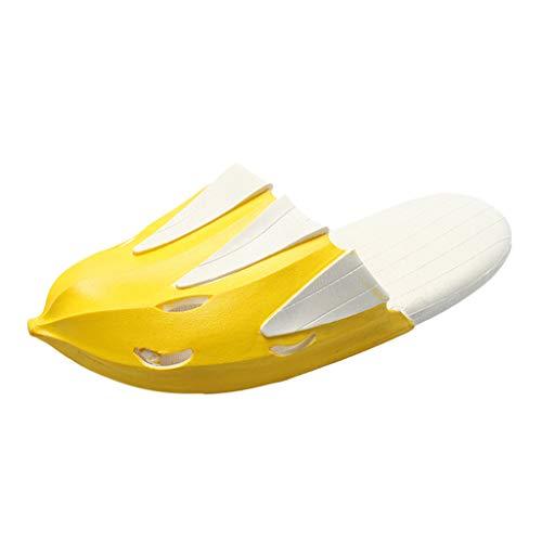 Comfort Spiaggia Sandali Casuale Piatte Mezza Anti Lianmengmvp Da Scarpe Bassi Donna Soffici Testa Estivi Molle scivolo Piatti Pantofole Giallo 7qWPSq