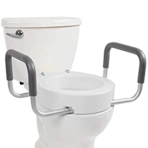 Toilet Seat Riser By Vive Elongated Raised Toilet Seat