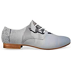 Horses Comfortable Leather Shoes for Women,Silver Pony Horse Galloping Over Motion Majestic Wild Animal Power and Grace Theme for Women Girls,US 10