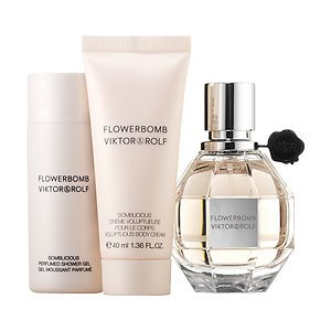 Viktor & Rolf Flowerbomb Gift Set: Eau De Parfum, Shower Gel, Body Cream