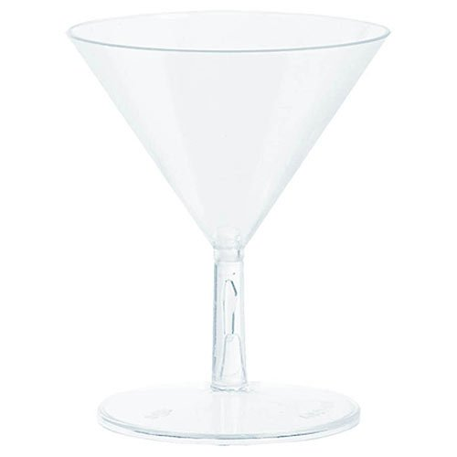 Clear Mini Plastic Martini Glasses | 20 Ct. | 2 oz.