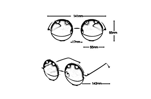 Ronde Dames Lunettes C à Couleur Soleil des de la X989 élégantes Lunettes de A Lunettes Lunettes Mode personnalité Soleil 0R6xqf1