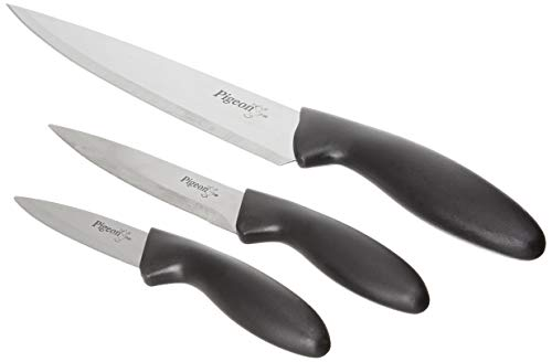 Pigeon by Stovekraft Stainless Steel Kitchen Knives Set, 3-Pieces, Multicolour 1