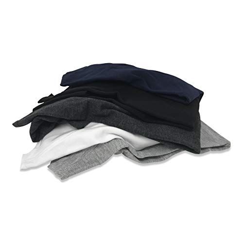 Sexy Basics Women's 5 Pack & 10 Pack Casual & Active Basic Cotton Stretch Color T Shirts