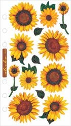 Sticko Bulk Buy Vellum Stickers Sunflowers SPVM-76 (6-Pack)
