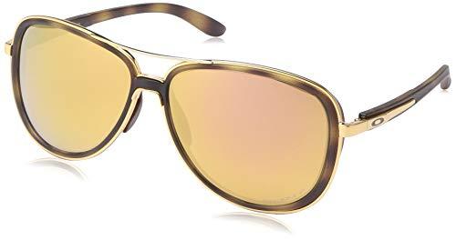 - Oakley Women's OO4129 Split Time Aviator Metal Sunglasses, Brown Tortoise Gold/Prizm Rose Gold Polarized, 58 mm