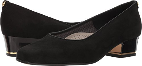 ara Women's Gada Pump, Black Microsuede, 10.5 M US