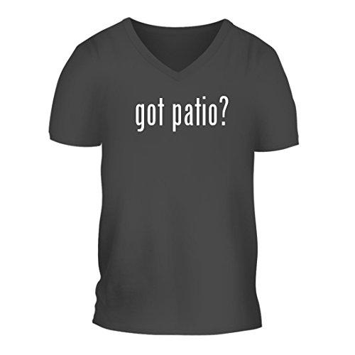 got patio? - A Nice Men's Short Sleeve V-Neck T-Shirt Shirt, Grey, Large (Furniture Strathwood Outdoor)