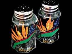 BELLISSIMO! SP-2003 Hand Painted Bird of Paradise Design 2.5 oz. Salt & Pepper Shakers - Set of -