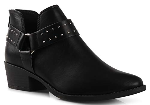 Women's Madeline Western Almond Round Toe Slip on Bootie - L