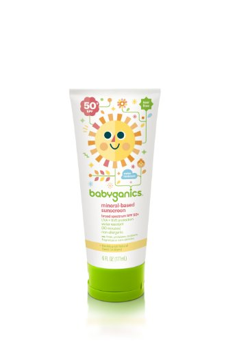 Babyganics Mineral-Based Sunscreen SPF 50, 6 oz , Packaging