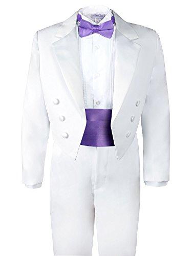 Spring Notion Boys' White Classic Tuxedo with Tail Wisteria 6