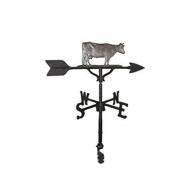 Montague Metal Products 32-Inch Weathervane with Swedish Iron Cow Ornament