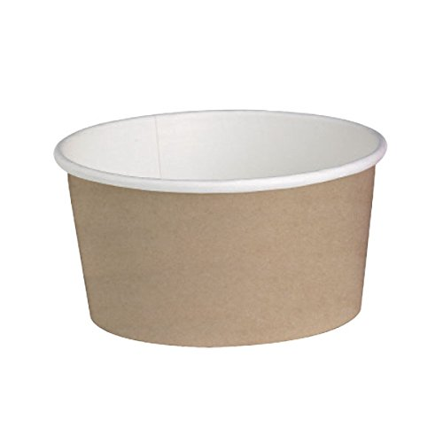 (Round Kraft Paper Deli Containers (Case of 50), PacknWood - Disposable Food Container (16 oz, 4.49
