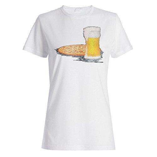 Neue Pizza Bier Chef Essen Damen T-shirt l527f
