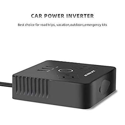 SUNGLIFE 150W Car Power Inverter, DC 12V to 110V AC Converter with 1 Socket Cigarette Lighter Adapter: Automotive