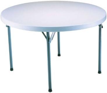 Lifetime 22960 Folding Round Table, 4 Feet, White Granite