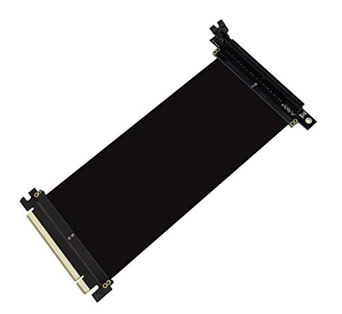 EZDIY-FAB PCI Express PCIe3.0 16x Flexible Cable Card Extension Port Adapter High Speed Riser Card (20cm-90 Degrees)
