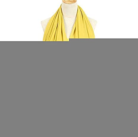 Sciarpa in seta stile hijab tinta unita