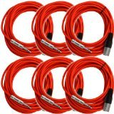 - Seismic Audio SATRXL-M25 25-Feet XLR Male to 1/4-Inch TRS Patch Cable Snake Cords Balanced - Red
