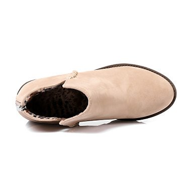 DESY Damen Schuhe Nubukleder Herbst Winter Modische Stiefel Springerstiefel Stiefel Blockabsatz Runde Zehe Booties / Stiefeletten