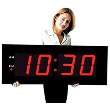 "Amazon.com: Large Digital LED Clock - Giant 8"" Numeral Red"