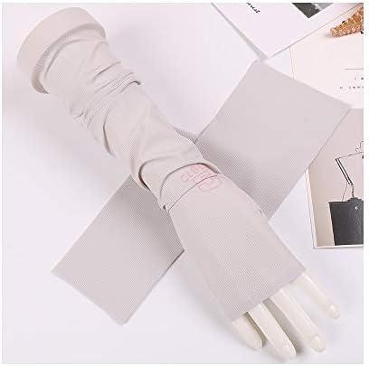 手袋 日常 実用 アンチUVスリーブシンアイススリーブアームバンドサマーサンスクリーングローブ (Color : Gray, Size : One size-Two pairs)