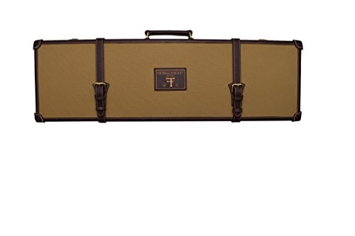 Hard Shotgun Case - Canvas with Leather Trim, By Thomas Ferney & Co.