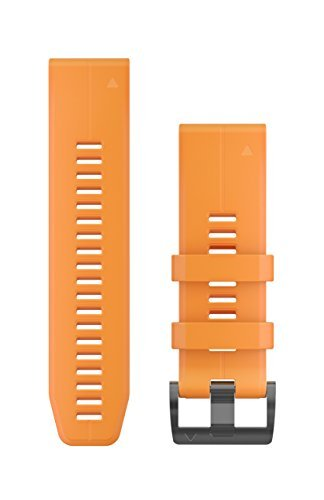 Garmin 010-12741-03 Quickfit 26 Watch Band – Solar Flare Orange Silicone – Accessory Band for Fenix 5X Plus/Fenix 5X