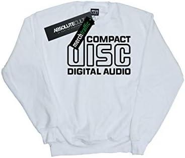Absolute Cult Compact Disc Herren Classic Logo Sweatshirt Weiß Medium
