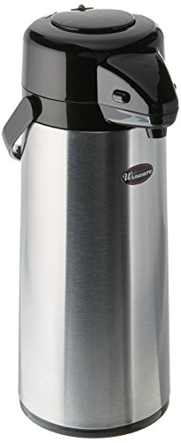 Winco 2.5 Liter Glass Lined Airpot, Push Button