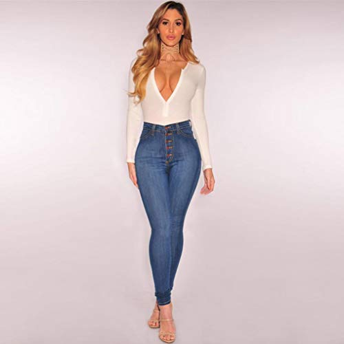 Sexy Skinny Pants De Alto VonVonCo Fiesta Talle Longitud Mujeres Jeans Verano De La Slim Denim Mujer Stretch Azul Vaqueros Pantorrilla PantalonesLas Mujeres ZqqfIv