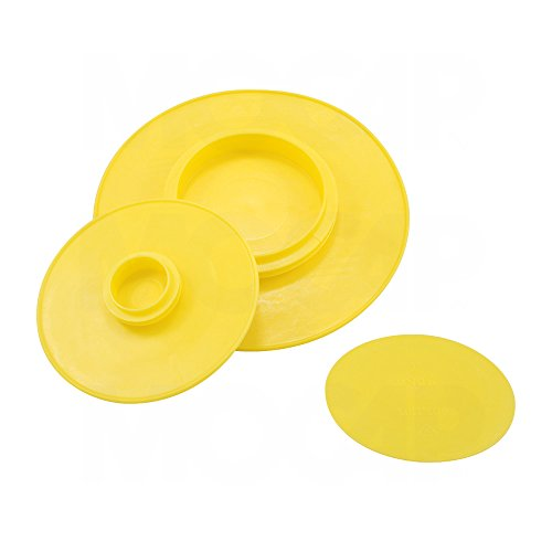 Push-in Plastic Flange Protectors - Yellow 5'' Nominal Size Push-in Flange Protector MOCAP MPI5000YW1 (qty75) by MOCAP